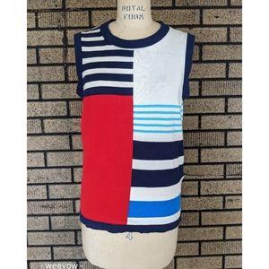 Kate Spade knit striped tank top Large soft